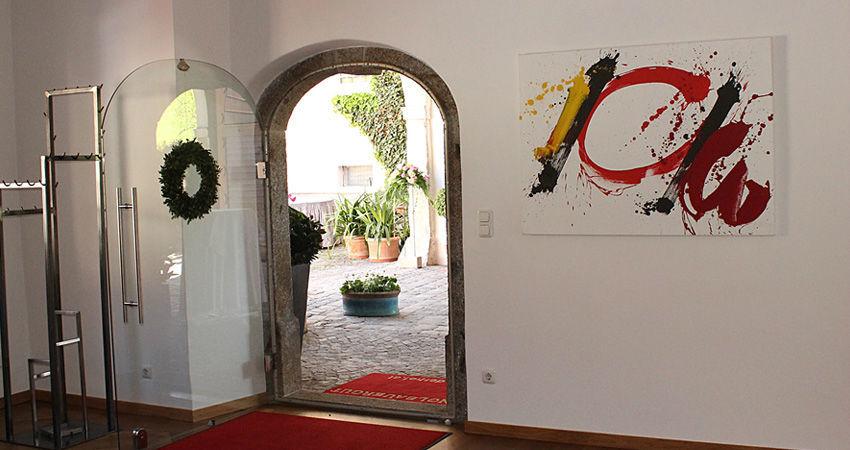 Beispiel: Eingang, Foto: Eventbauernhof Ganglbauergut.
