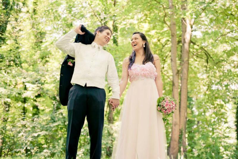 Beispiel: Romantische Hochzeitsfotos, Foto: Birgit Roschach.