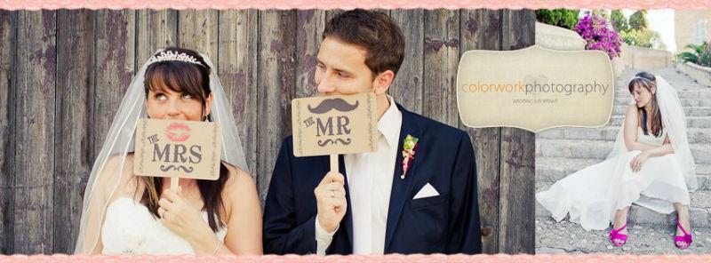 Beispiel: Hochzeitsfotos mit Witz, Foto: Colorwork Photography.