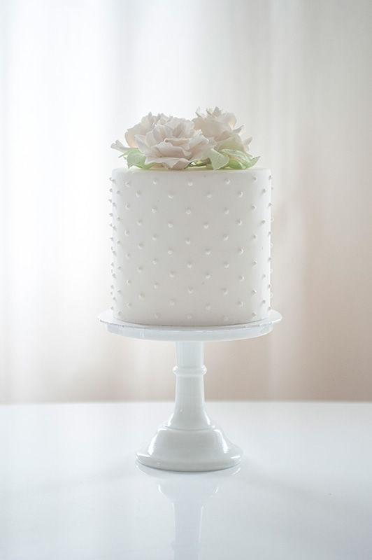 Wedding Cake Fondant mit Zuckerrosen | Foto: Die Zuckerbäckerin