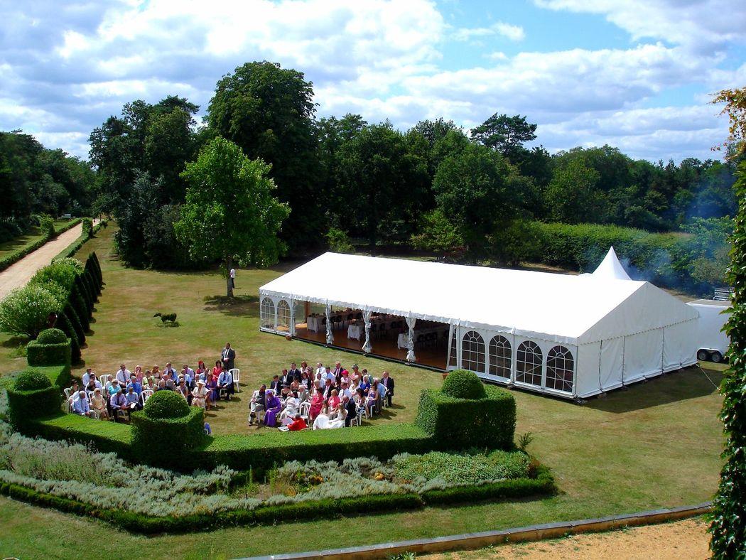 Mariage dans les jardins du Château