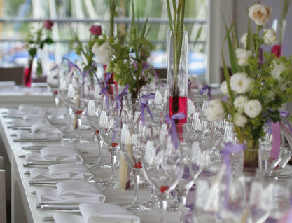 Beispiel: Hochzeitstafel, Foto: Alsterlounge.