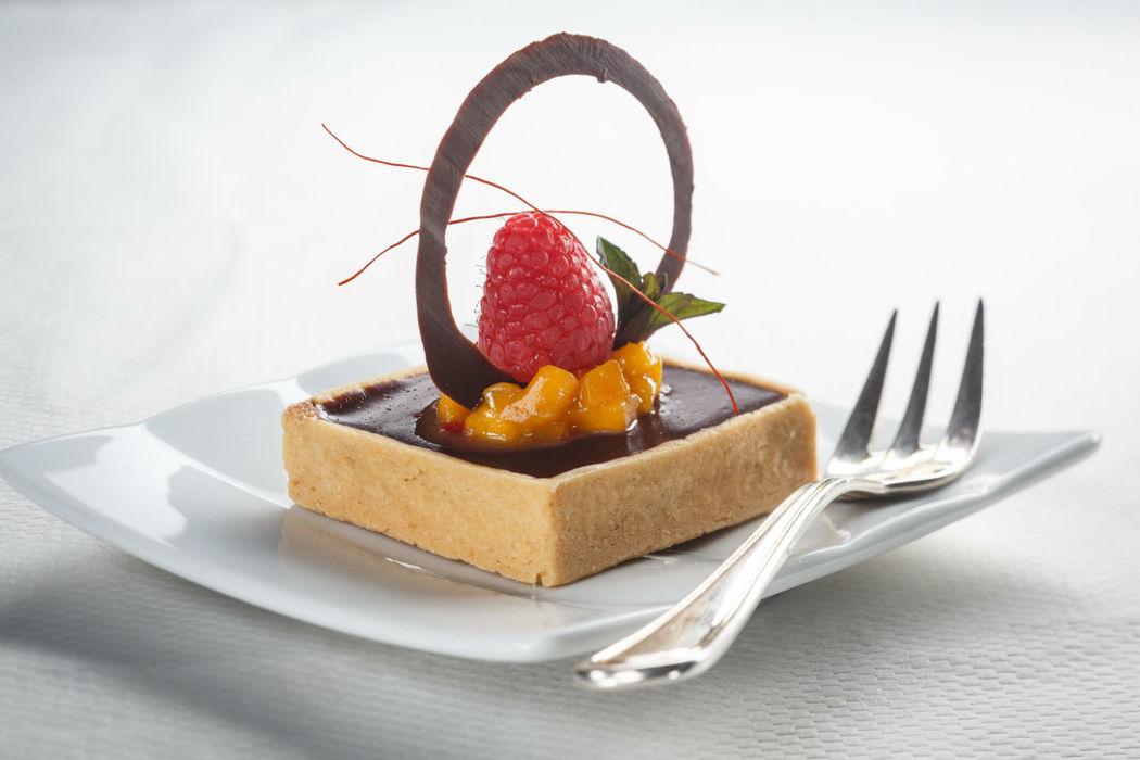 Beispiel: Dessert, Foto: Dallmayr Partyservice.