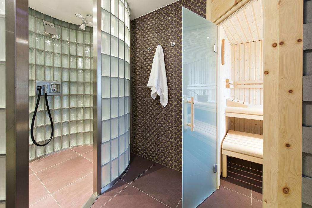 Beispiel: Wellness-Tempel zum entspannen, Foto: Hotel Chesa Rosatsch.