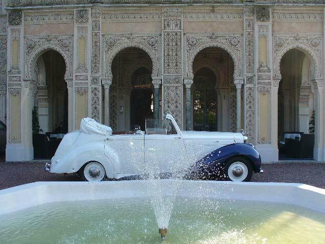 Bentley MK VI cabrio bicolore perla/cobalto