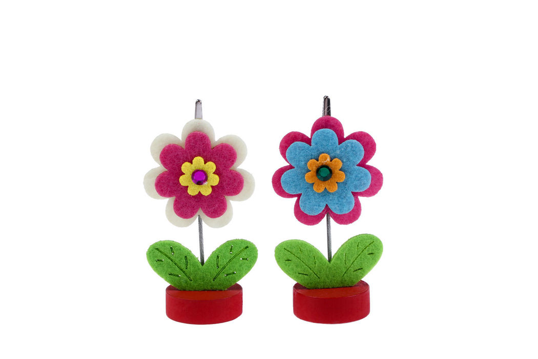 Portafotos Fieltro flor