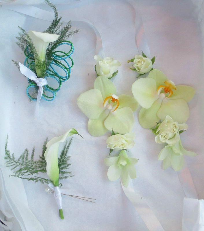 Accessoires vert et turquoise