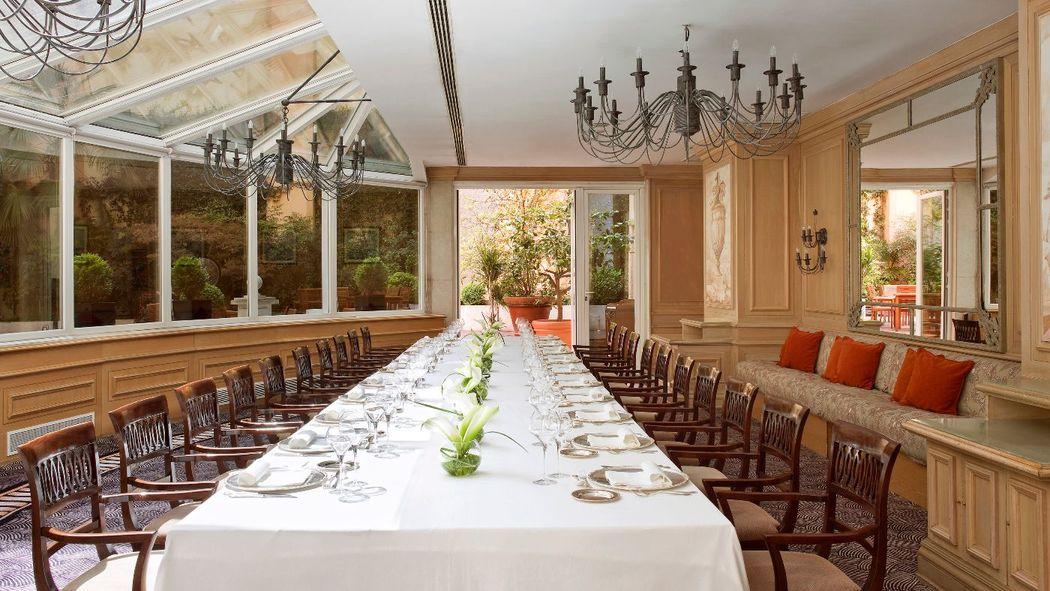 Restaurante El Jardín para celebración de bodas íntimas.