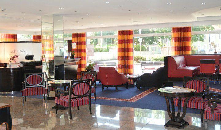 Beispiel: Hotellobby, Foto: Hotel Moosburger Hof.