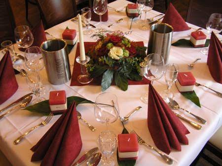 Beispiel: Tischdekoration, Foto: Der Legienhof.