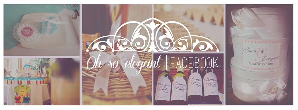 Oh So Elegant Celebrations visita-nos no Facebook