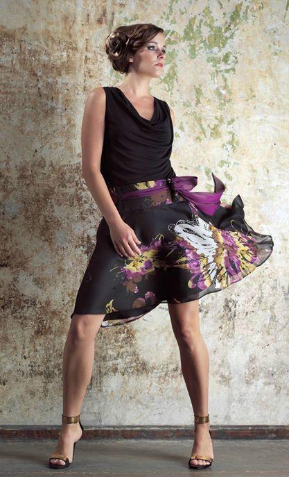 Beispiel: Abendkleid, Foto: Friske & Lübcke Modeatelier.
