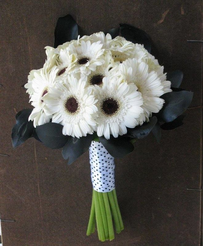 Bouquet de Noiva Gerberas Brancas