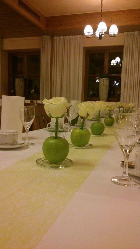 Beispiel: Tischdekoration, Foto: Blumerie Immergrün.