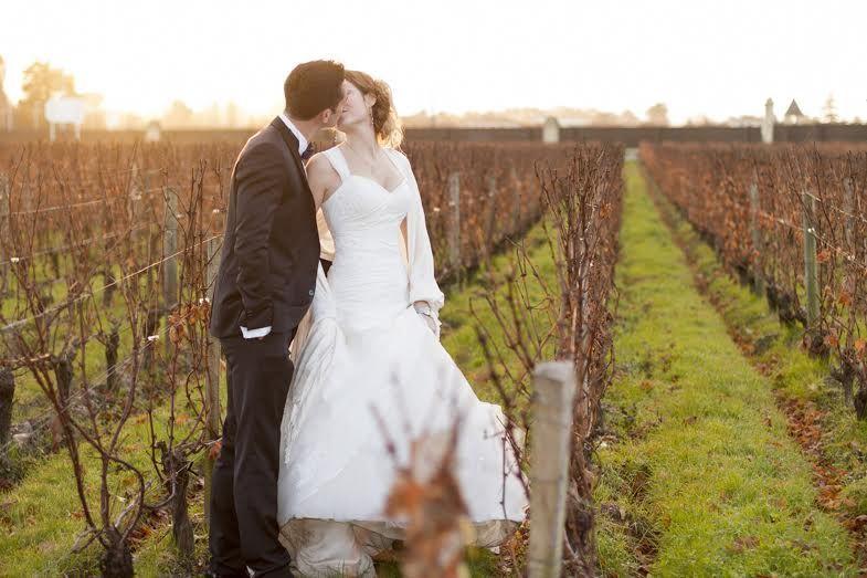 Mariage dans les vignes du chateau Pape Clément à Pessac.
