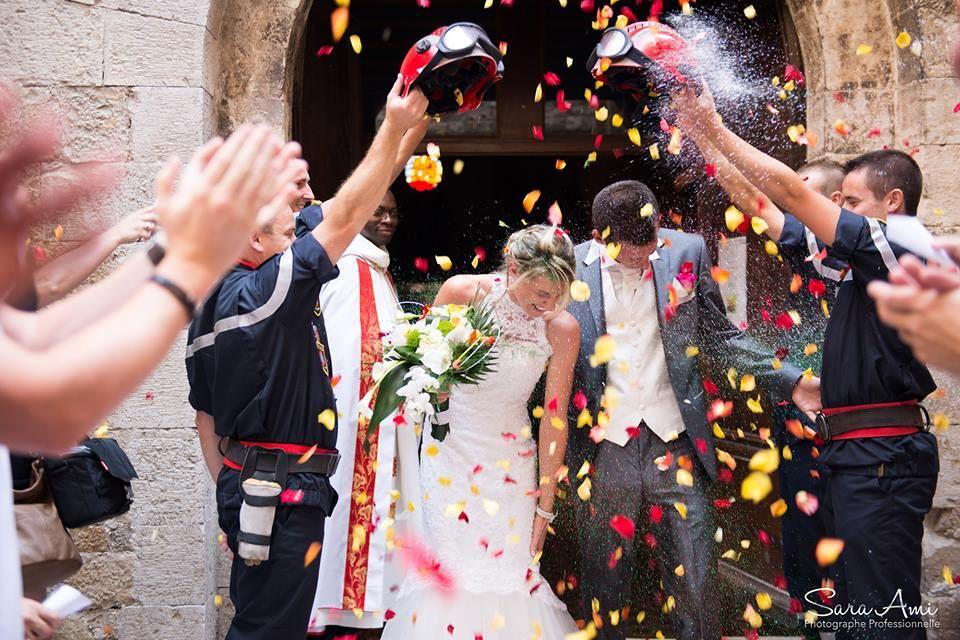 Mariage pompier Var