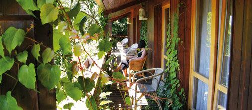 Beispiel: Balkon in der Natur, Foto: Hotel Bock.
