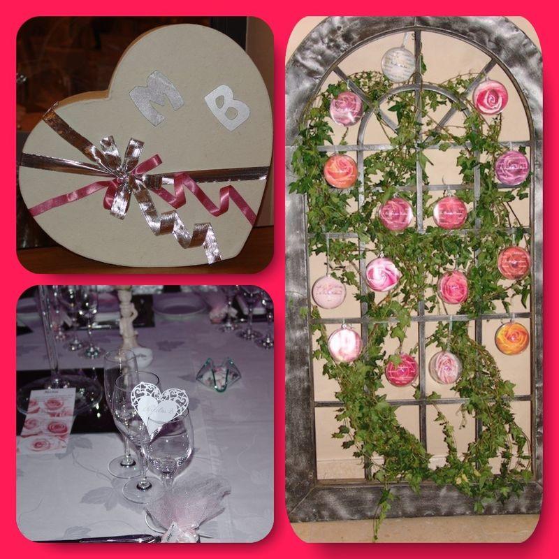 Création de plan de table, décoration de l'urne.
