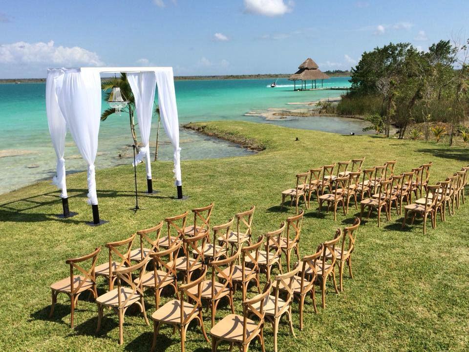 Jardín  para bodas Paraíso Bacalar ubicado en Chetumal, Donde los sueños  de tu boda se hacen realidad!