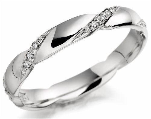 AM37 Aros de matrimonio con diamantes. Hechos a medida en oro blanco o amarillo 18K.