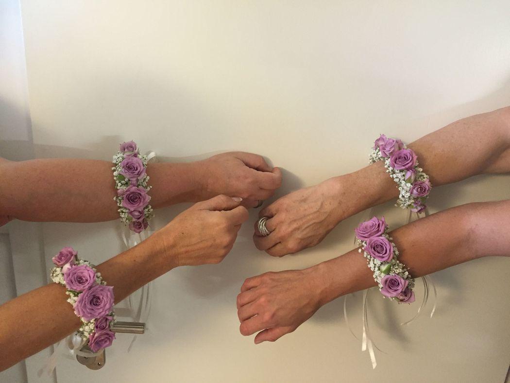 Armbänder: lila/violett für Bridmaids