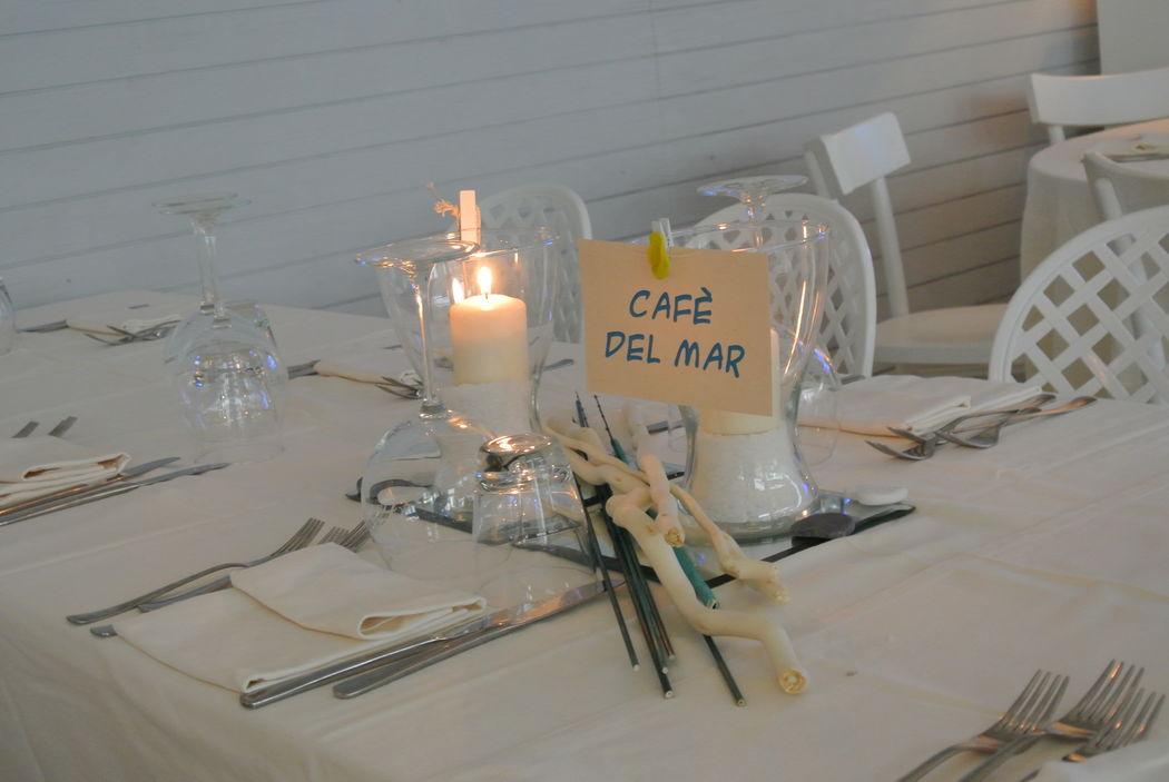 Matrimonio al mare - Fil rouge Ibiza - Tavolo ospiti