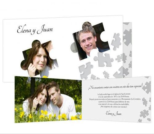 Invitaciones de boda Puzzle