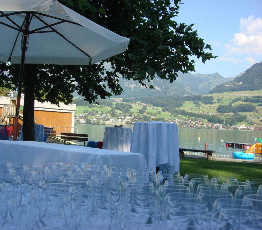 Beispiel: Terrasse, Foto: Seehotel Wilerbad.