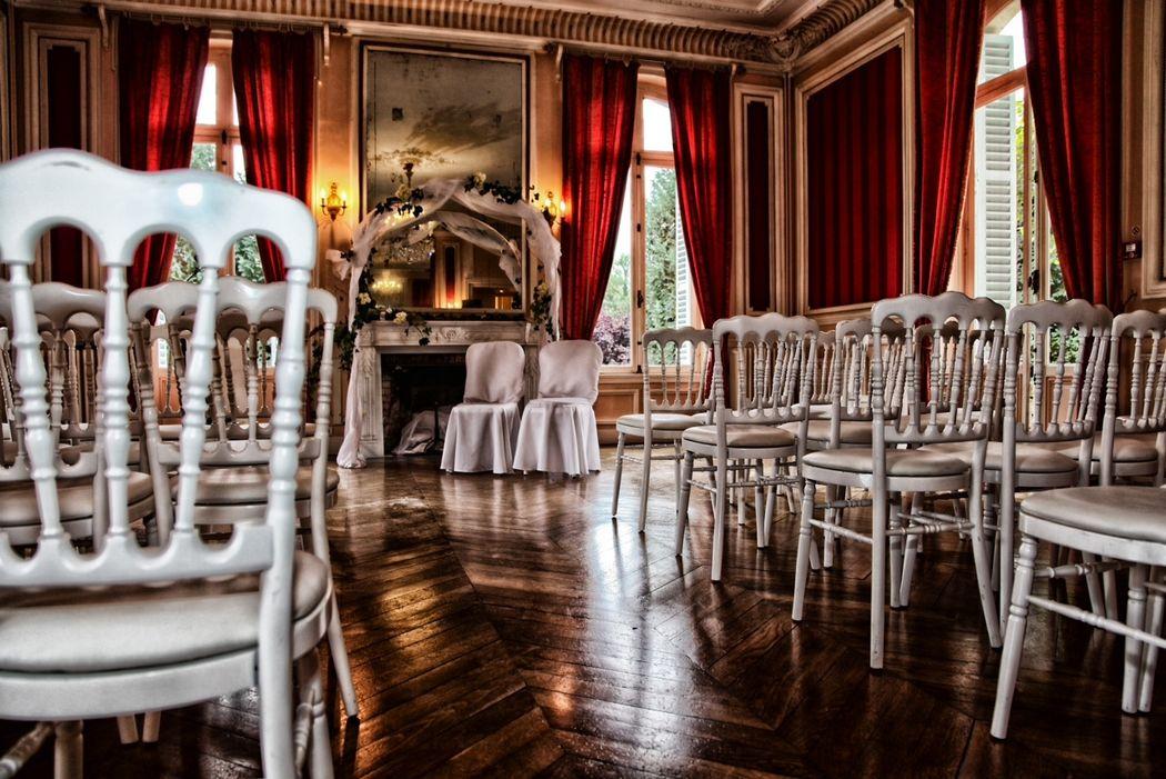 Le Salon Napoléon aménagé pour une cérémonie laïque