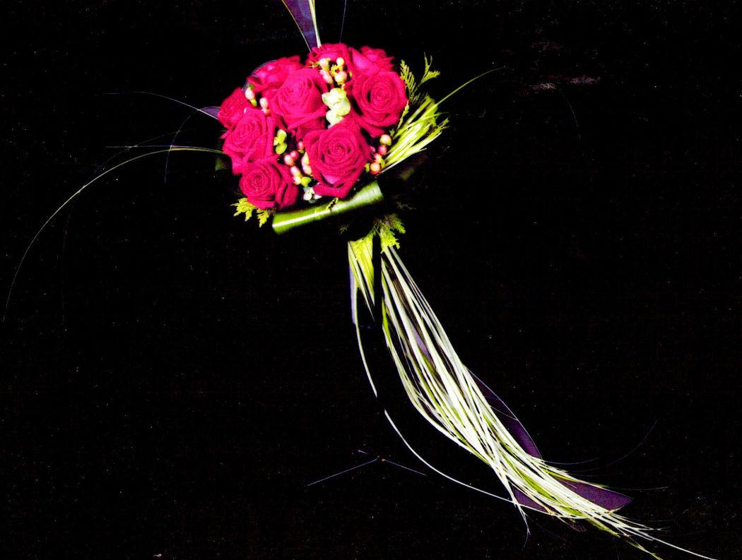 Bouquet novia, con cola de oso.
