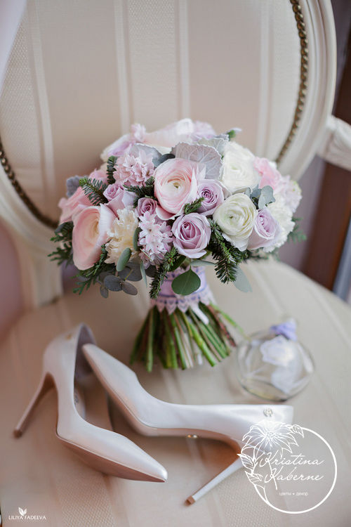 Нежный букет невесты Флорист Кристина Каберне Фотограф Лилия Фадеева