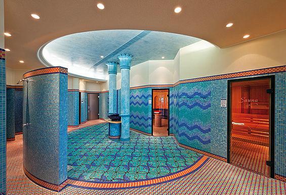 Beispiel: Saunabereich, Foto: Travel Charme Strandhotel Bansin.