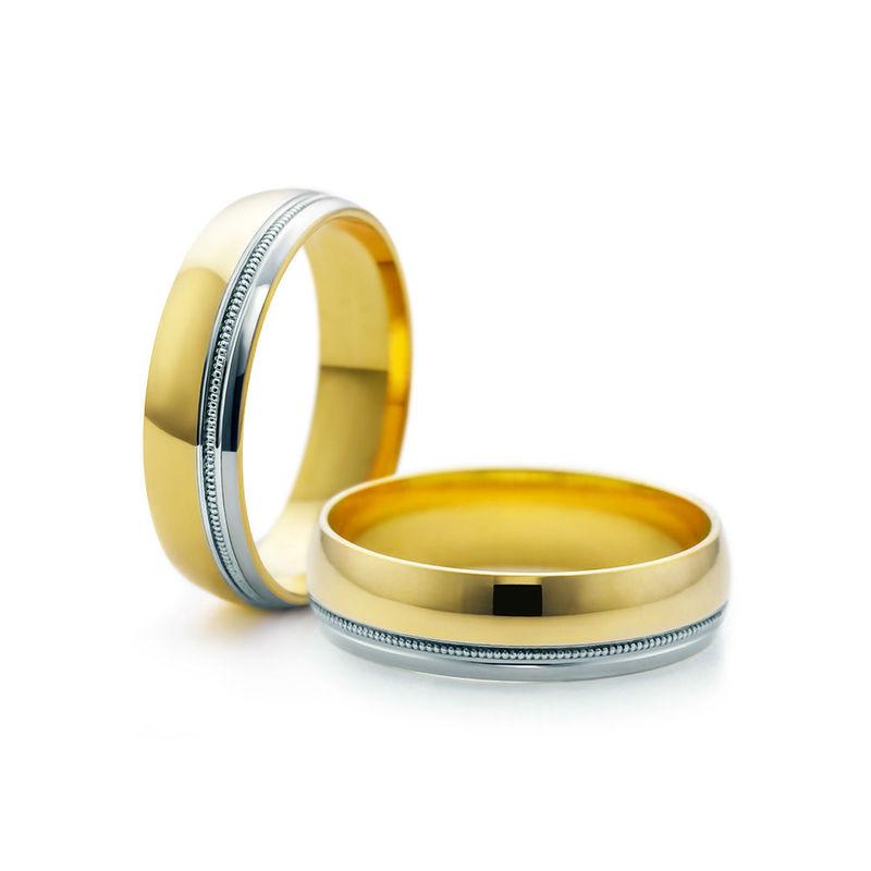 Obrączki z dwukolorowego złota