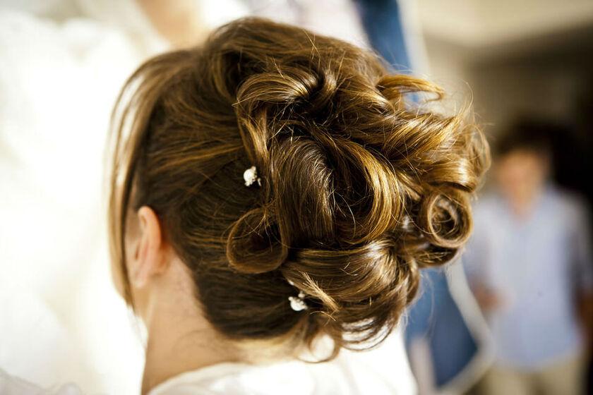 Dettaglio capelli sposa