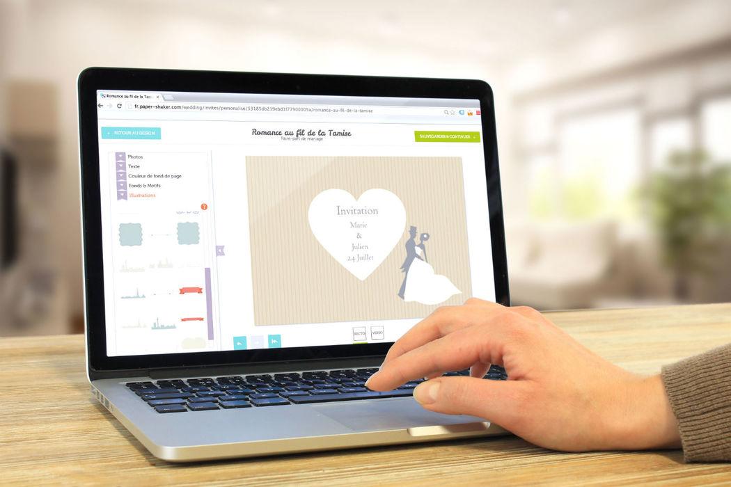Personalisation de cartes dans l'outil de création en ligne