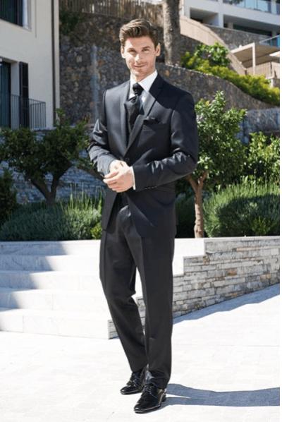 Beispiel: Hochzeitsmode, Foto: Schanda Männermodewelt.