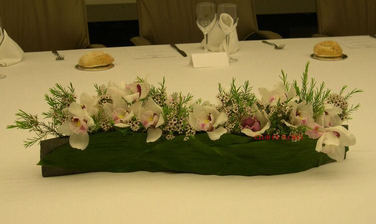 Decoración floral de mesas para enlaces