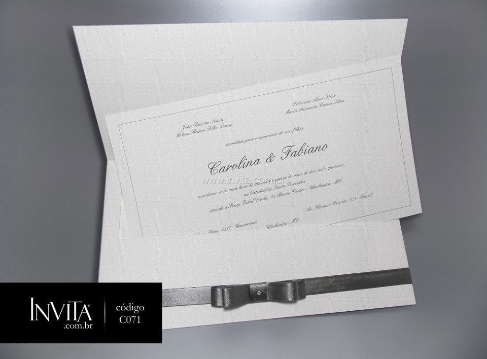 Convite de Casamento Clássico - Cód.: C071