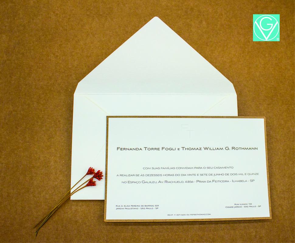 Convite tradicional com um toque moderno | Letter press