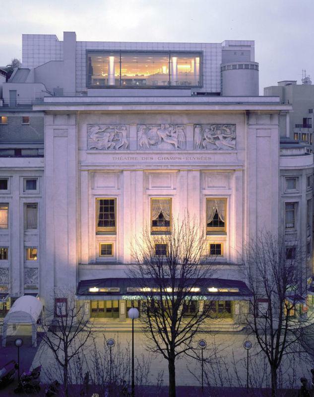 Vue du bâtiment Théatre des Champs Elysées - Maison Blanche