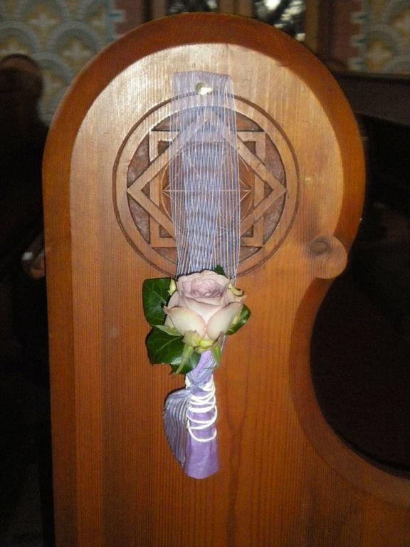 Beispiel: Kirchenschmuck, Foto: Wilheine Blumenbindekunst.