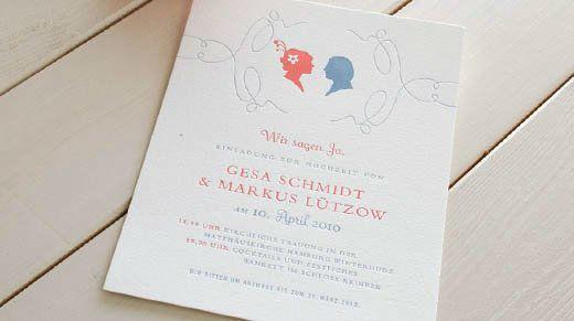 Beispiel: Motiv Scherenschnitt - Hochzeitskarten mit Stil, Foto: Honeybird.