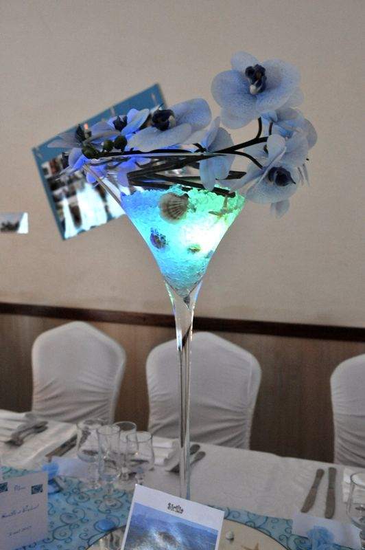Décoration vase thème mer