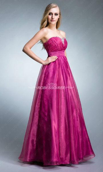 Col paillete robe de soiree