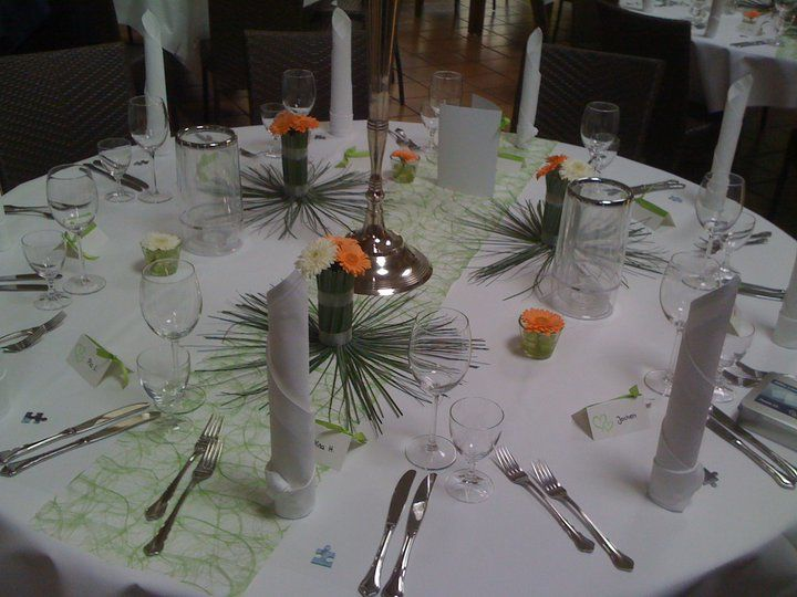 Beispiel: Tischdekoration, Foto: Am Krickenbecker See.