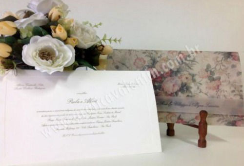 convite floral - Ideal para casamento no campo ou dia