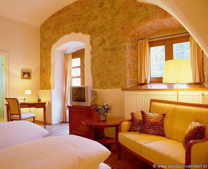 Beispiel: Hotelzimmer, Foto: Schloss Mühldorf.