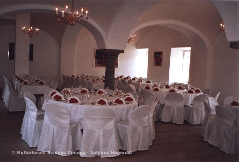 Beispiel: Festsaal, Foto: Schloss Hagenau.