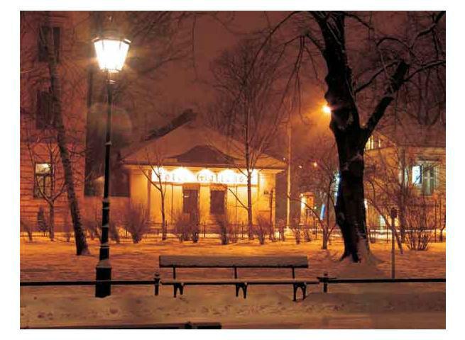 Hotel zimą