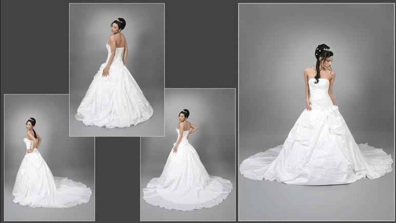 Beispiel: Atemberaubende Hochzeitskleider, Foto: s'Bruthüsli.